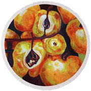 Perfect Pears Round Beach Towel