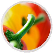 Perfect Peppers Round Beach Towel