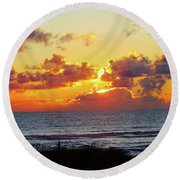 Perfect Sunset Cannon Beach I Round Beach Towel