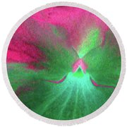 Perfectly Pansy 07 - Photopower Round Beach Towel