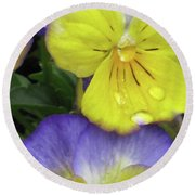 Perfectly Pansy 11 Round Beach Towel