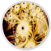 Perferated Fractal Round Beach Towel