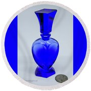 Perfume Bottle Collection_5 Round Beach Towel