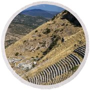 Pergamon Amphitheater Round Beach Towel