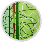 Peridot Party Round Beach Towel