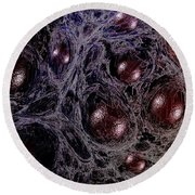 Peripheral Blood Stem Cells Round Beach Towel