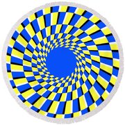 Peripheral Drift Illusion  Round Beach Towel