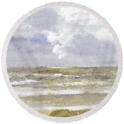 Periwinkle Coast Round Beach Towel
