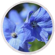 Periwinkle Flower Round Beach Towel