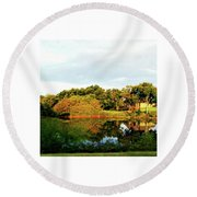 Perry Reflection Photo Round Beach Towel