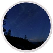 Perseids Meteor Shower 1 Round Beach Towel by Jim Thompson
