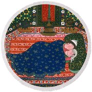 Persia: Lovers, 1527-28 Round Beach Towel