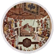Persian Miniature, 1567 Round Beach Towel