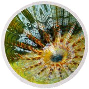 Persian Pool Lily Pad Round Beach Towel