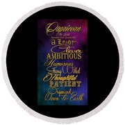 Personality Traits Of A Capricorn Round Beach Towel