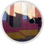 Perspective And Shadow Round Beach Towel