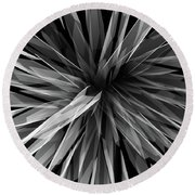 Perspective Facets Round Beach Towel