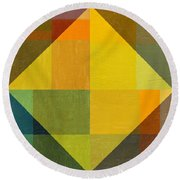 Perspective In Color Collage 2 Round Beach Towel