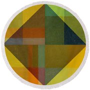 Perspective In Color Collage 8 Round Beach Towel by Michelle Calkins