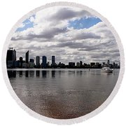 Perth City From South Perth Foreshore  Round Beach Towel