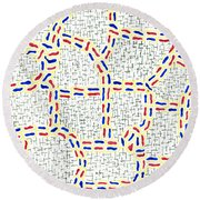 Pertinacious Round Beach Towel