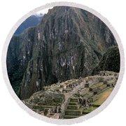 Peru: Machu Picchu Round Beach Towel