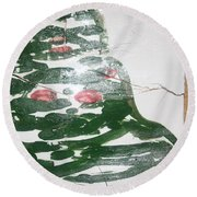Perusal  - Tile Round Beach Towel