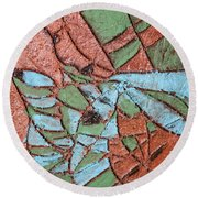 Perusal Tile Round Beach Towel