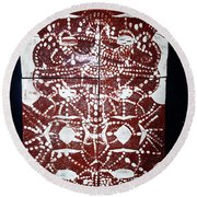 Peruser Round Beach Towel