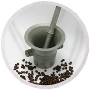 Pestle And Mortar  Round Beach Towel