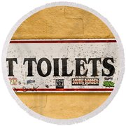 Pet Toilets Round Beach Towel