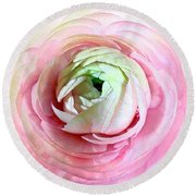 Flower, Petal Labyrinth Round Beach Towel