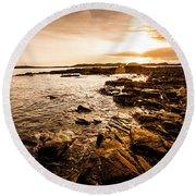Petal Point Ocean Sunrise Round Beach Towel
