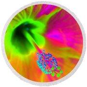 Petal Power - Hibiscus - Photopower 3260 Round Beach Towel