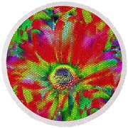 Petal Power Round Beach Towel
