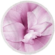 Petals In Pink Round Beach Towel
