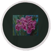 Parrot Tulips Round Beach Towel