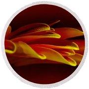 Petals Like Fingertips By Kaye Menner Round Beach Towel