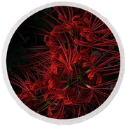 Petals Of Fireworks Round Beach Towel