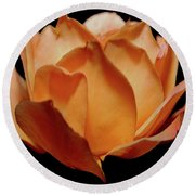 Petals Of Orange Sorbet Round Beach Towel by DigiArt Diaries by Vicky B Fuller
