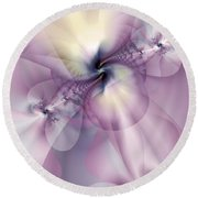 Petals Of Pulchritude Round Beach Towel