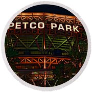 Petco Park Round Beach Towel by RJ Aguilar