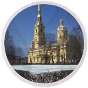 Peter And Paul Cathedral Round Beach Towel