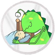 Peter And The Closet Monster, Kiss Round Beach Towel