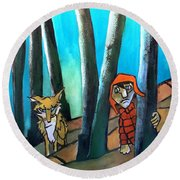Peter And The Wolf Round Beach Towel