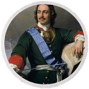 Peter I The Great Round Beach Towel