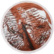 Peter N Katie - Tile Round Beach Towel