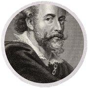 Peter Paul Rubens, 1577-1640. Flemish Round Beach Towel