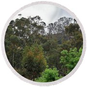 Peters Canyon In The Rain 8 Round Beach Towel