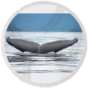 Petersburg Ak Whale Tale 2 Round Beach Towel